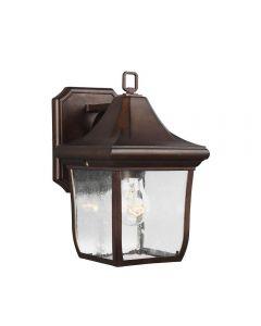 FE/OAKMONT2/S Oakmont Small Outdoor Wall Lantern In Bronze - H: 273mm