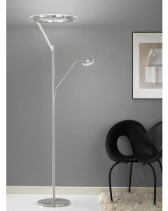 S214 Satin Nickel LED Mother and Child Floor Lamp