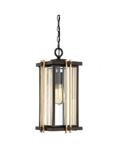 QZ/GOLDENROD8/M Golden Rod Outdoor Chain Lantern In Bronze