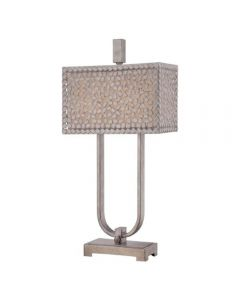 QZ/CONFETTI/TL Confetti Old Silver 2 Light Desk Lamp