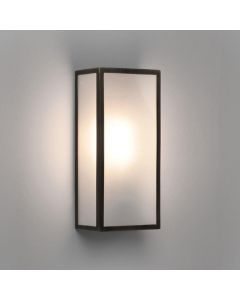 Astro 1183009 Messina One Light Outdoor Wall Light In Bronze Plate With Frosted Glass