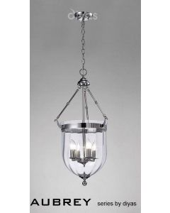 IL31073 Aubrey 4 Light Polished Chrome Ceiling Pendant