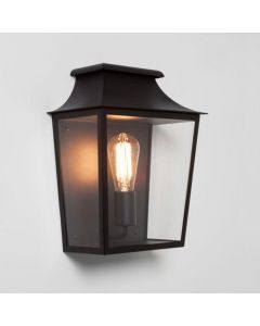Astro 1340002 Richmond Exterior Wall Light In Black With Clear Glass
