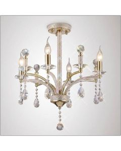 Diyas IL32364 Fiore 4 Light Semi Flush Ceiling Light In French Gold