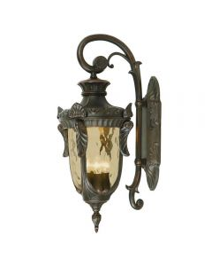 Elstead PH2/LOB Philadelphia 3 Light Large Down Wall Lantern Light In Old Bronze