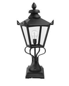 Elstead GN1/BLK Grampian exterior pedestal lantern, IP23