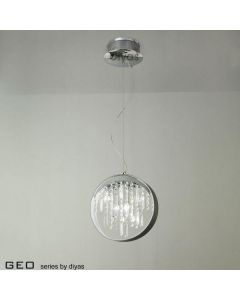 IL30232 7 Light Chrome And Crystal Ceiling Pendant Lamp