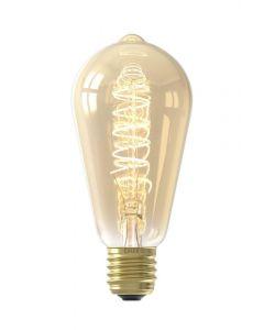 425752 Rustic Lamp E27 Edison Screw 4 Watt Bulb With A Gold Finish