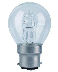 42 Watt BC(B22) Halogen Saver Clear Golfball Lamp Single Bulb