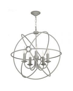 David Hunt Lighting ORB0539 Orb Five Light Ceiling Pendant Light In Ash Grey