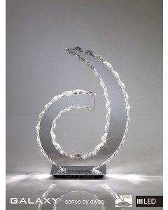 IL80000 Galaxy LED Chrome & Crystal 'D' Table Lamp