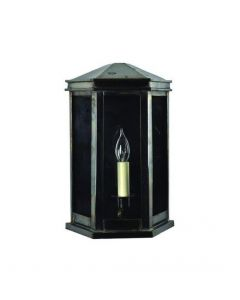 735 Small Solid Brass Metropolitan 1 Light Wall Lantern