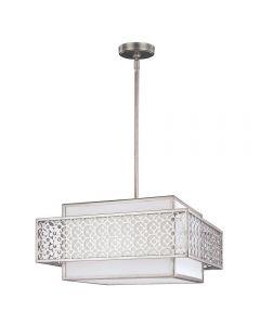 FE/KENNEY/3P Kenney 3 Light Ceiling Pendant Light In Sunrise Silver
