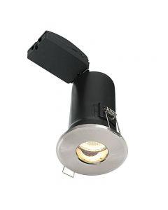 Saxby 50688 ShieldPLUS MV Satin Nickel Bathroom Recessed Downlight IP65
