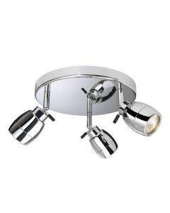 Firstlight 9503 Marine Chrome 3 Light Bathroom Ceiling Spotlight