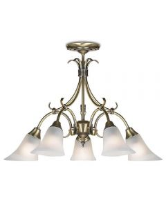 Endon 144-5AN 5 Light Chandelier In Antique Brass