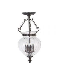Elstead FP/P/S OB Finsbury Park 3 Light Small Ceiling Lantern Light In Olde Bronze - Width: 220mm