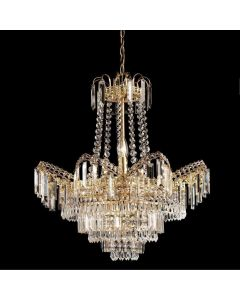 Endon 96819-GO Adagio 9 Light Gold Finish & Glass Chandelier