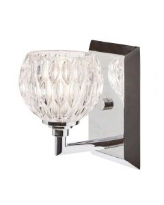 QZ/SERENA1 BATH Serena 1 Light Bathroom Wall Light In Polished Chrome