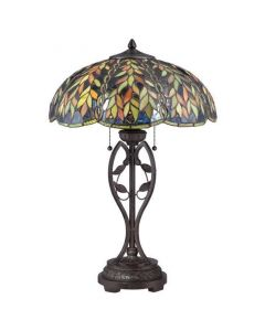 QZ/BELLE/TL Belle Tiffany Imperial Bronze 2 Light Table Lamp
