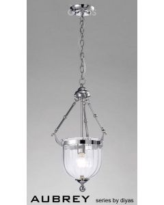 IL31071 Aubrey 1 Light Polished Chrome Ceiling Pendant