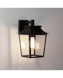 Astro 1340004 Richmond One Light Outdoor Wall Lantern Light In Black - Width: 200mm