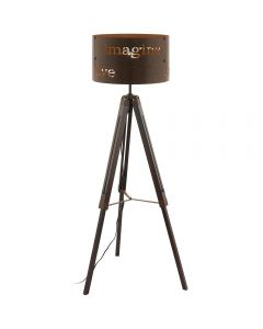 Eglo 49793 Coldingham 1 Light Floor Lamp In Rust Coloured Steel