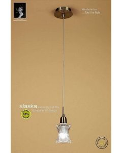 M8612AB Alaska Low Energy 1 Light Antique Brass Ceiling Pendant