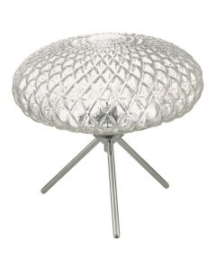 Dar BIB4308 Bibiana 1 Light Table Lamp In Polished Chrome With Clear Glass - Height: 270mm