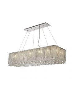 Diyas IL31733 Empire 14 Light Rectangular Pendant Light In Polished Chrome