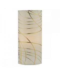 IRI4112  Irina Table Lamp In Ivory And Gold