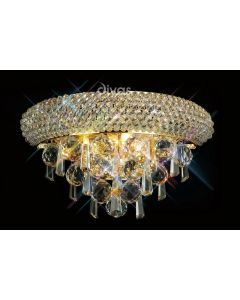 Diyas IL32100 Alexandra Crystal Wall Light in French Gold