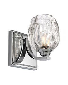 FE/KALLI1 BATH Kalli 1 Light Bathroom Wall Light In Polished Chrome
