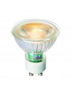 High Quality 5.5 watt LED GU10 COB Warm White, Glass Body