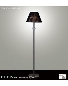 IL30690 Elena Black Chrome And Crystal Cloth Floor Lamp Base