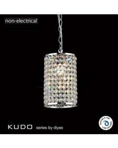 IL60002 Kudo Chrome And Crystal Non-Electric Pendant