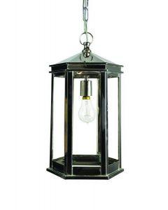 N734 Small Nickel Metropolitan 1 Light Hanging Lantern