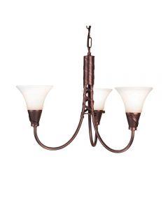 Elstead EM3 COPPER Emily 3 light chandelier