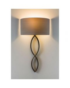 Astro 1349010 and 5026003 Caserta Modern Wall Light in Bronze with Oyster Shade