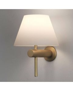 Astro 1050009 Roma One Light Wall Light In Matt Gold With White Shade
