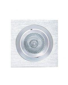 Mantra MC0006 Basic GU10 Square Swivel Downlight In Aluminium