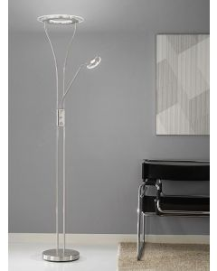 S217 Satin Nickel LED Mother and Child Floor Lamp