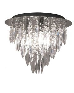 Dallas 3 Light Round Flush Ceiling Chandelier