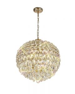Diyas IL32805 Coniston 9 Light Ceiling Pendant In French Gold