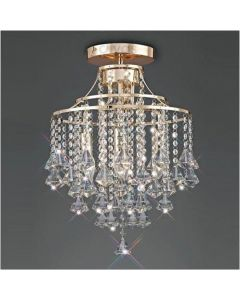 Diyas IL32770 Inina 4 Light Ceiling Light In French Gold