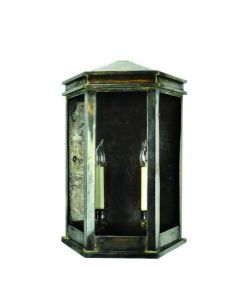735B Medium Solid Brass Metropolitan 2 Light Wall Lantern