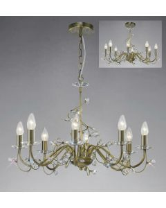 Diyas IL31228 Willow Ceiling Pendant Light in Antique Brass