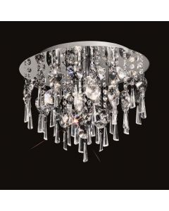 C5719 Round 4 Light Crystal Bathroom Flush Ceiling Light