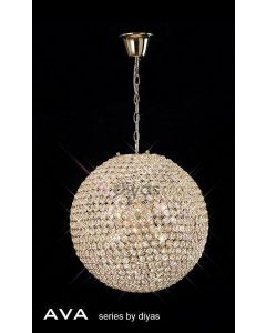 IL30753 Ava 7 Light French Gold Crystal Ceiling Pendant