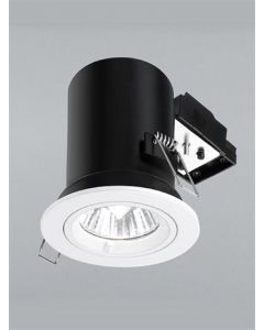 REC287 Recessed Downlight With White Finish